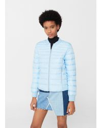 Mango   Blue Quilted Jacket   Lyst