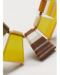 Violeta by Mango - Yellow Mixed Piece Necklace - Lyst