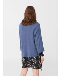 Mango - Blue Wool-blend Sweater - Lyst