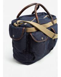 Mango | Blue Canvas Weekend Bag | Lyst