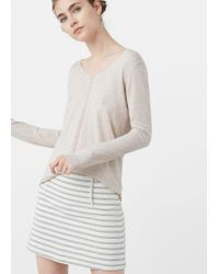 Mango | Multicolor Openwork Ribbed Sweater | Lyst