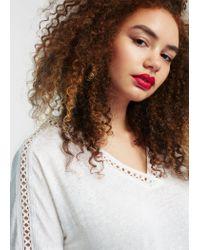 Violeta by Mango | White Panel Linen-blend T-shirt | Lyst