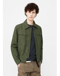 Mango | Green Cotton-blend Canvas Jacket for Men | Lyst
