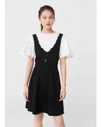 Mango | Black V-neckline Dress | Lyst