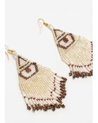 Mango | Natural Beaded Pendant Earrings | Lyst