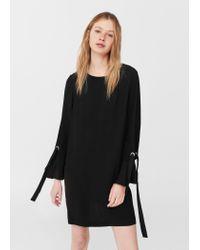 Mango   Black Bows Dress   Lyst