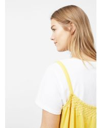 Violeta by Mango - Yellow Decorative Embroidery Top - Lyst
