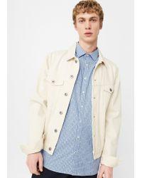 Mango | Blue Slim-fit Gingham Check Shirt for Men | Lyst