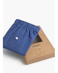 Mango | Blue Printed Cotton Boxer Shorts for Men | Lyst