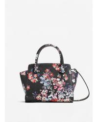 Mango | Pink Pebbled Tote Bag | Lyst