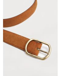 Violeta by Mango | Brown Suede Belt | Lyst