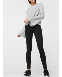 Mango | Black Essential Cotton Leggings | Lyst