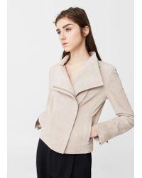 Mango | Multicolor Zip Leather Jacket | Lyst