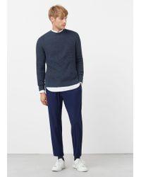 Mango | Blue Reverse Knit Sweater for Men | Lyst