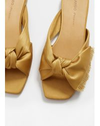 Mango - Multicolor Bow Satin Sandals - Lyst
