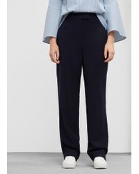 Violeta by Mango | Blue Flowy Suit Trousers | Lyst