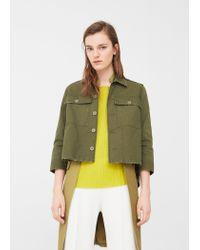 Mango | Green Pocket Cotton Jacket | Lyst