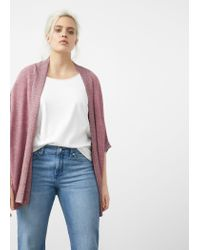 Violeta by Mango | Pink Metallic Finish Cardigan | Lyst