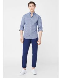 Mango | Blue Slim-fit Cotton Chinos for Men | Lyst