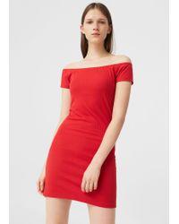 Mango | Tailored Ribbed Dress | Lyst