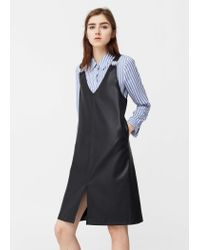 Mango | Black Metallic Appliqués Pinafore Dress | Lyst