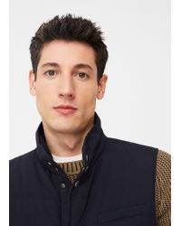 Mango | Blue Quilted Gilet for Men | Lyst