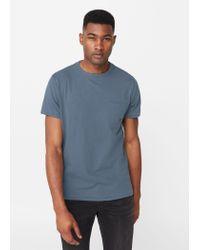 Mango   Blue Pocket Cotton T-shirt for Men   Lyst