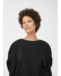 Mango   Black Organic Cotton Sweatshirt   Lyst