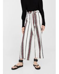 Mango | Multicolor Striped Cotton Trousers | Lyst