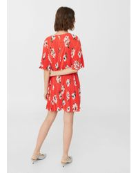 Mango | Textured Flowy Dress | Lyst