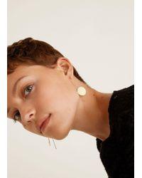 Mango - Metallic Slim Metal Earrings - Lyst