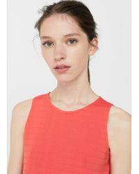 Mango | Textured Dress | Lyst