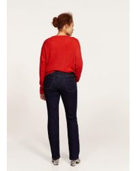 Violeta by Mango | Blue Straight Fit Jeans | Lyst