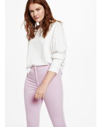 Violeta by Mango - Purple Color Taniac Jeggings - Lyst