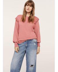 Violeta by Mango - Pink Puffed Sleeves Sweater - Lyst