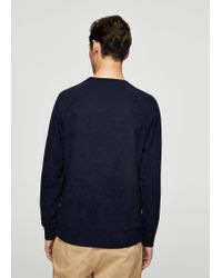 Mango - Blue Textured Sweater for Men - Lyst