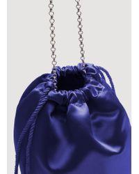 Mango   Purple Satin Bag   Lyst