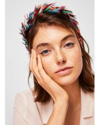 Mango - Green Hairband - Lyst