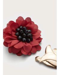 Violeta by Mango - Metallic Flower Brooch - Lyst