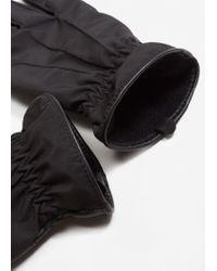 Mango - Black Gloves Mch for Men - Lyst