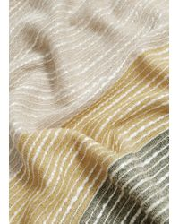 Mango - Multicolor Texture Printed Foulard - Lyst