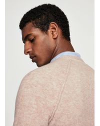 Mango - Natural Textured Knit Sweater for Men - Lyst