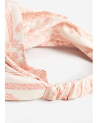 Mango - Orange Printed Headband - Lyst