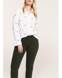Violeta by Mango   Green Slim-fit Julia Jeans   Lyst