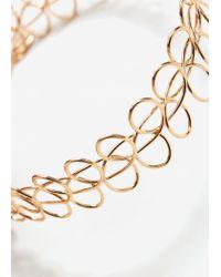 Mango - Metallic Metal Necklace Set - Lyst