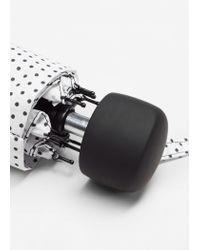 Mango - White Polka-dot Folding Umbrella - Lyst