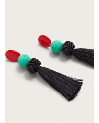Violeta by Mango - Red Tassels Pendant Earrings - Lyst
