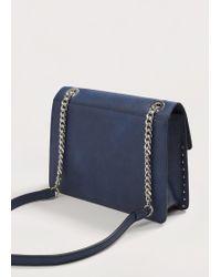 Violeta by Mango - Blue Floral Embroidery Bag - Lyst