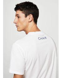 Mango - White Printed Cotton T-shirt for Men - Lyst