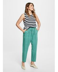 Violeta by Mango - Green Soft Baggy Trousers - Lyst
